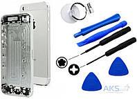 Корпус Apple iPhone 5S Original Silver (132368) + набор для открывания корпусов iPhone