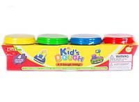 Тесто для лепки. Набор для детского творческого развития. 4шт х 140г. Размер: 31х8х8