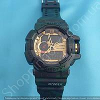 Армейские часы Casio G Shock GBA 400 113917 мужские темно-зеленый хаки камуфляж водонепроницаемые с подсветкой