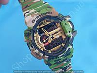Армейские часы Casio G-Shock GBA-400 113918 мужские хаки камуфляж водонепроницаемые с подсветкой календарь