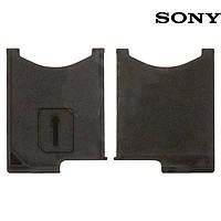 Держатель SIM-карты для Sony Xperia Z L36h C6602 / C6603 / C6606, черный, оригинал