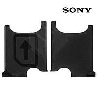 Держатель SIM-карты для Sony C6902 L39h Xperia Z1, оригинал (черный)