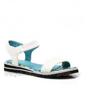 Сандалии белые с цветным носком на стельке