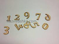 Деревянные цифры для поделок, рукоделия, оттиска (размер 14 мм)