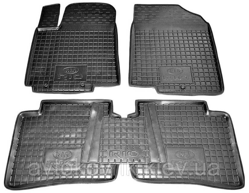 Полиуретановые коврики в салон Kia Rio III (UB) 2011-2015 (AVTO-GUMM)