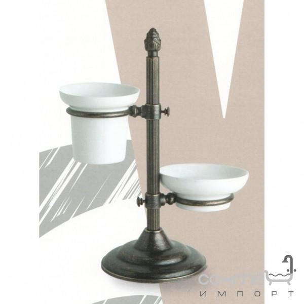 Аксессуары для ванной комнаты All.pe Стакан и мыльница на настольной подставке All.pe Venezia OR VZ141 золото