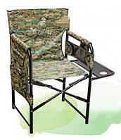Складной стульчик с подставкой Росава: полиэстер, металл, 83х53/72х50 см