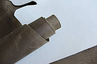 "Натуральная кожа ""Крейзи Хорс"" для обуви и кожгалантереи оливкового цвета арт. СК 1165"