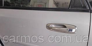 Накладки на ручки + окантовка Chevrolet Lacetti (шевроле лачетти), ABS хром
