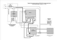 Схема монтажа нагревателя ЭВН-105/110 в отопительной системе с баком-аккумулятором