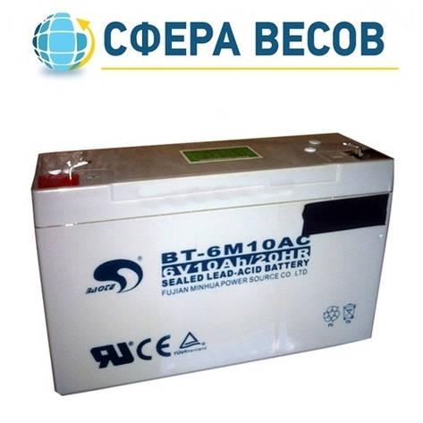 Аккумулятор для весов ВК ЗЕВС ІІI 6В/10Ач, фото 2