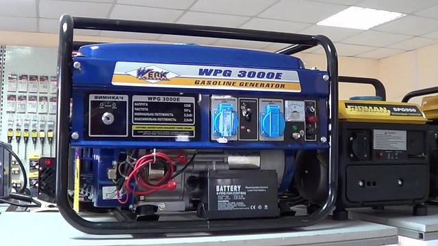 бензиновый генератор Werk 3000E фото 1