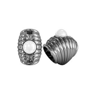 Бусина серебряная Шарм с Жемчугом 610140