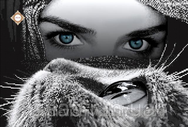"""Схема для вышивки бисером """"Глаза в глаза"""""""