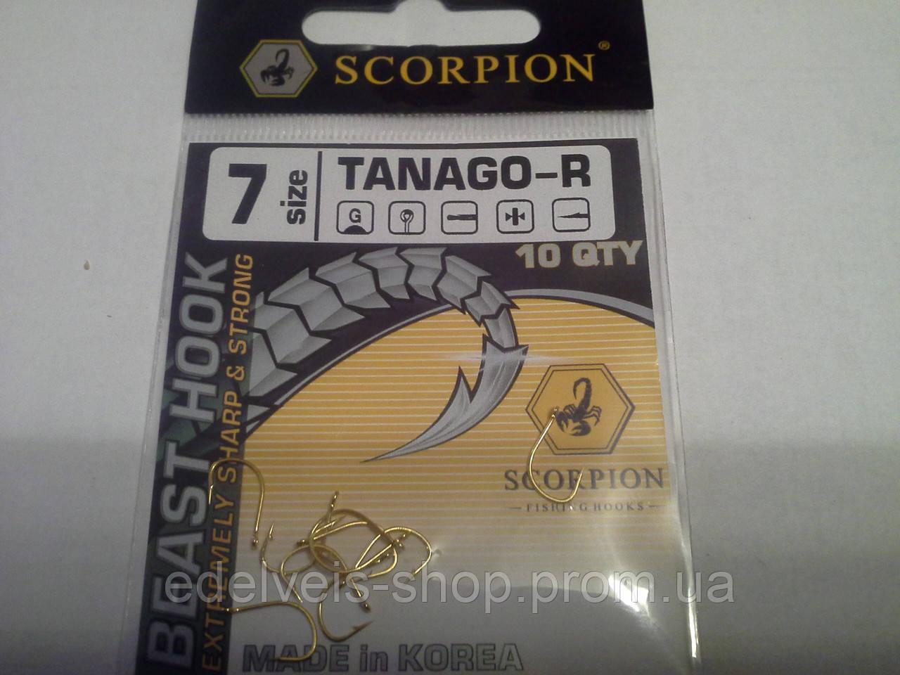 Крючки Bratfishing SCORPION TANAGO -R 7 (желтый)
