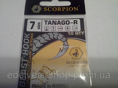 Крючки Bratfishing SCORPION TANAGO -R 7 (желтый), фото 2