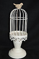Клетка-подсвечник с птичкой, 30 см, 270/320 (цена за 1шт. +50 грн)