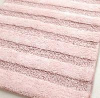 Коврик для ванной 70х120 хлопок Irya NOVA бледно-розовый