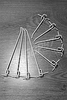 Крючок одинарный на перфорацию (КОП-150). Торговые крючки. Крючки под перфорацию.