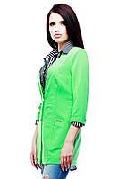 Модный женский жакет салатового цвета