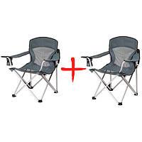 2 раскладных стула Синевир (кемпинговая мебель): полиэстер, металл, 85*85*53 см