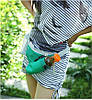 Сумка для спорту з кишенею під телефон і флягу (блакитна), фото 3