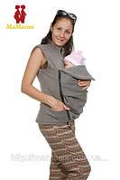 Демисезонная куртка-жилетка 2в1: беременность, слингоношние, фото 1
