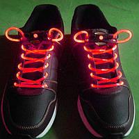 Светящиеся led шнурки—красные.