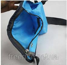 Сумка для спорта с карманом под телефон и флягу (голубая), фото 2