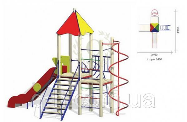 Детский игровой комплекс кс 2-2, фото 2