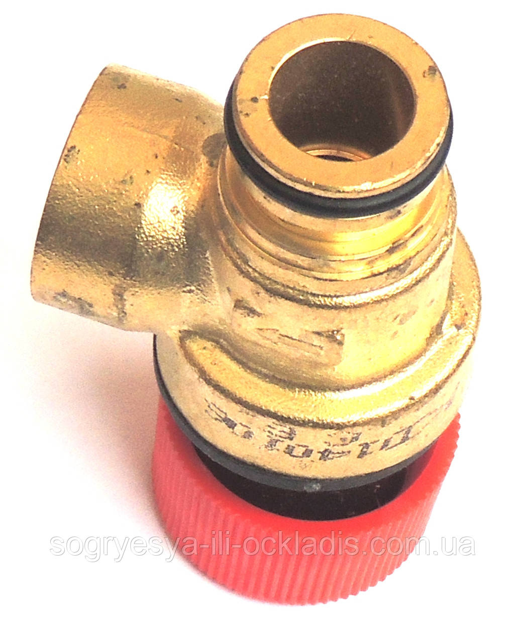 """Клапан безопасности 3 бара (взрывной, предохранительный под """"клипсу"""") Praga, Rocterm, код сайта 4078"""