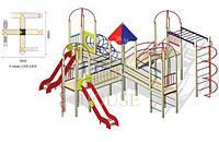 Детский уличный комплекс КВ 3-7