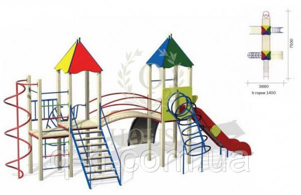 Детский игровой комплекс кв 3-1, фото 2