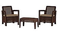 Комплект садовой мебели Tarifa Balcony, коричневый