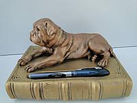 Собака на книзі (бронза) бесплатная доставка при 100 % предоплате