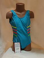 Купальник синий детский сдельный в спортивном стиле  36