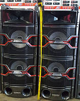 Профессиональные колонки акустические  Temeisheng T242, bluetooth, микрофоны ( для дискотеки или клуба )