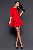 Оригинальное женское платье - колокольчик Бруни красное