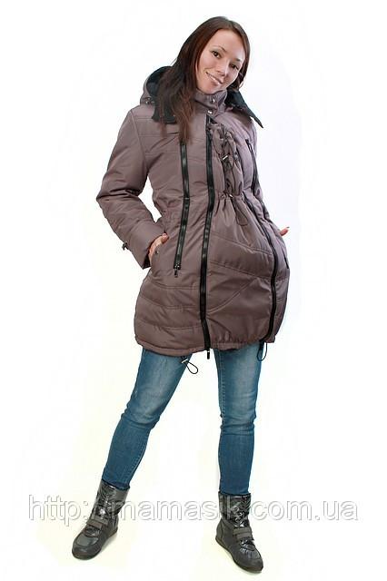 Зимняя слингокуртка 3 в1 - HAPPY MAMA - одежда для беременных и кормящих,  одежда для e7f57334e54