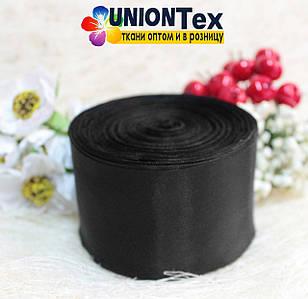 Лента шелковая черная 5 см