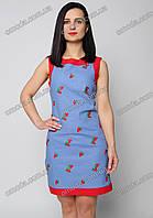 Женское летнее платье из льна