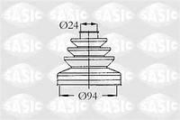 Пыльник полуоси комплект пыльника приводной вал Citroen  C25 Peugeot J5 SASIC 2873493