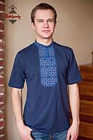 Чоловіча вишиванка Традиційна синя, фото 1