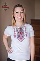 Жіноча вишита футболка Традиційна червона