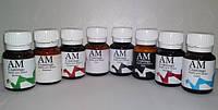 Краски АМ для мебельной, галантерейной, обувной кожи 30 мл. цвет коричневый