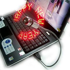 USB  мини-вентилятор с LED подсветкой «I LOVE YOU»
