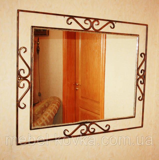 Зеркало кованое в прихожую 1