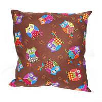 Подушка декор Совушки шоколадный 40*40см