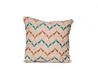 Подушка с наволочкой декор Волна голубой 40*40см