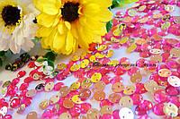 Стразы пришивные акрил розовая роза 8мм